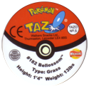 Tazos > Walkers > Pokémon 05-#182-Bellossom-(back).