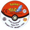 Tazos > Walkers > Pokémon 07-#155-Cyndaquil-(back).