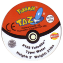 Tazos > Walkers > Pokémon 08-#158-Totodile-(back).