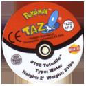 Tazos > Walkers > Pokémon 08-#158-Totodile-(back).