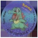 Tazos > Walkers > Pokémon 08-#158-Totodile.
