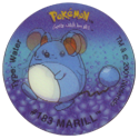 Tazos > Walkers > Pokémon 09-#183-Marill.