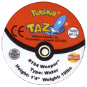 Tazos > Walkers > Pokémon 10-#194-Wooper-(back).