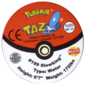 Tazos > Walkers > Pokémon 11-#199-Slowking-(back).
