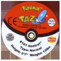 Tazos > Walkers > Pokémon 12-#161-Sentret-(back).