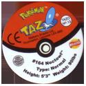Tazos > Walkers > Pokémon 13-#164-Noctowl-(back).