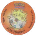 Tazos > Walkers > Pokémon 14-#175-Togepi.