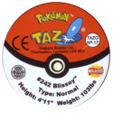 Tazos > Walkers > Pokémon 17-#242-Blissey-(back).