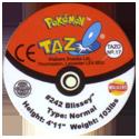 Tazos > Walkers > Pokémon 17-#242-Blissey-(back).