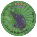 Tazos > Walkers > Pokémon 19-#214-Heracross.