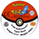 Tazos > Walkers > Pokémon 21-#185-Sudowoodo-(back).