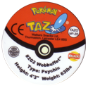 Tazos > Walkers > Pokémon 22-#202-Wobbuffet-(back).