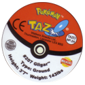 Tazos > Walkers > Pokémon 24-#207-Gligar-(back).