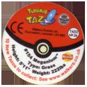Tazos > Walkers > Pokémon 26-#154-Meganium-(back).