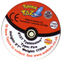 Tazos > Walkers > Pokémon 27-#157-Typhlosion-(back).