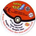 Tazos > Walkers > Pokémon 33-#174-Igglybuff-(back).