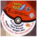 Tazos > Walkers > Pokémon 33-#174-Igglybuff-(back).