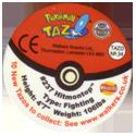 Tazos > Walkers > Pokémon 34-#237-Hitmontop-(back).