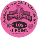 Universal Flip-Caps Association > Power Rangers Back-1-point-purple.