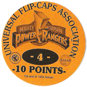 Universal Flip-Caps Association > Power Rangers Back-10-points-orange.