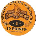 Universal Flip-Caps Association > Power Rangers Back-10-points-orange.
