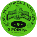 Universal Flip-Caps Association > Power Rangers Back-5-points-green.