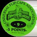 Universal Flip-Caps Association > Power Rangers Back-5-points-green.