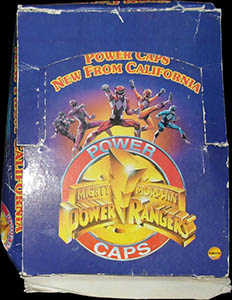 Universal Flip-Caps Association > Power Rangers packet etc. Power-Caps-Box.