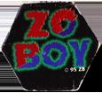 Unknown > © 95 ZB (Zo Boy) ©-95-ZB-Zo-Boy-red-blue-text-in-hexagon.