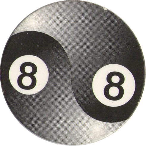 Image result for 8 ball pogs
