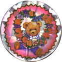 Unknown > Rabbits, birds, butterflies & teddies Teddy-with-heart-shaped-flower-garland-(foil).