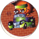 Unknown > Skulls & 8-balls in cars 65-Orange-head-in-car.