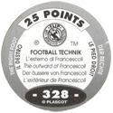 World Flip Federation > Football Technik (Foil) 328-The-Right-Foot---The-outward-of-Francescoli-(back).