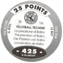 World Flip Federation > Football Technik (Foil) 425-The-Score---The-precision-of-Balbo-(back).