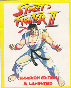 World Flip Federation > Street Fighter II Checklist front.