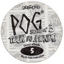 World POG Federation (WPF) > Avimage > Série No 3 - Tour du Monde Back.