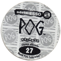 World POG Federation (WPF) > Avimage > série ESSO Nº 1 Back.