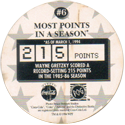 World POG Federation (WPF) > Coca Cola - Wayne Gretzky, The Great One 06-Most-Points-in-a-Season-(back).