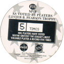 World POG Federation (WPF) > Coca Cola - Wayne Gretzky, The Great One 16-MVP-As-voted-by-players-(Lester-B.-Pearson-Trophy)-(back).