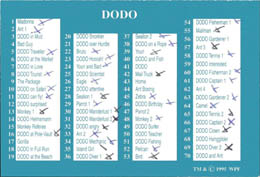 World POG Federation (WPF) > Dodo Checklist etc. Dodo.