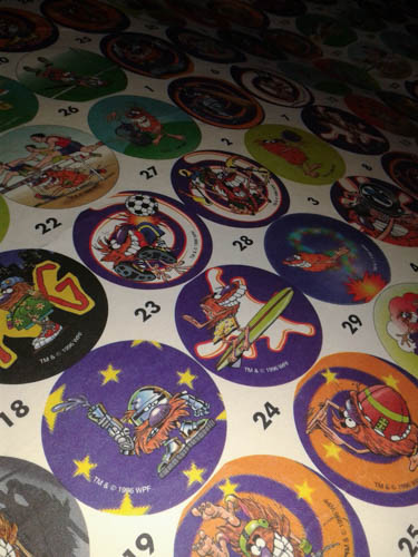 original print sheet for golden wonder pogs close up 1
