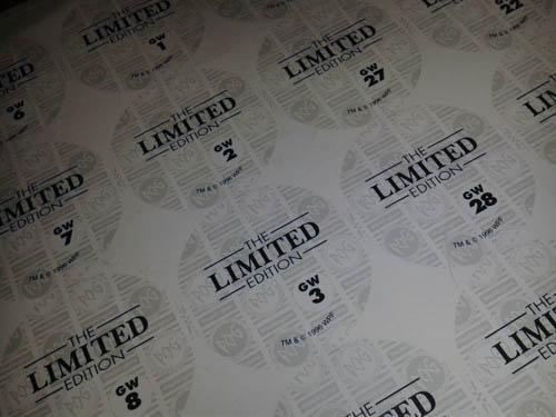 original print sheet for reverse golden wonder pogs close up