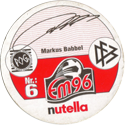 World POG Federation (WPF) > Nutella EM96 06-Markus-Babbel-(back).