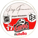World POG Federation (WPF) > Nutella EM96 17-Jürgen-Klinsmann-(back).