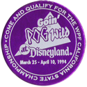 World POG Federation (WPF) > Pog Wild Disneyland 1994 Token-front.