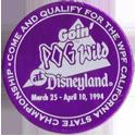 World POG Federation (WPF) > Pog Wild Disneyland 1994 Token-front.