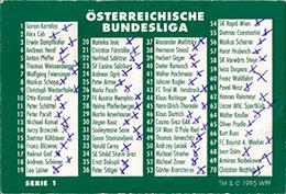 World POG Federation (WPF) > Schmidt > Bundesliga Checklists etc. Bundesliga-Österreichische-Serie-1.
