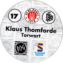 World POG Federation (WPF) > Schmidt > Bundesliga Serie 1 017-FC-St.-Pauli-Klaus-Thomforde-Torwart-(back).