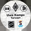World POG Federation (WPF) > Schmidt > Bundesliga Serie 1 028-Borussia-Mönchengladbach-Uwe-Kamps-Torwart-(back).