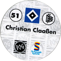 World POG Federation (WPF) > Schmidt > Bundesliga Serie 1 051-Hamburger-SV-Christian-Claaßen-(back).
